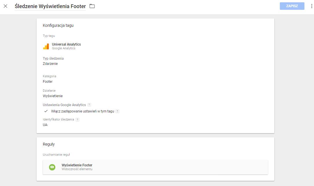 Google Tag Manager Wyświetlenia