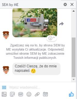 ManyChat, roboty na facebooku, messenger
