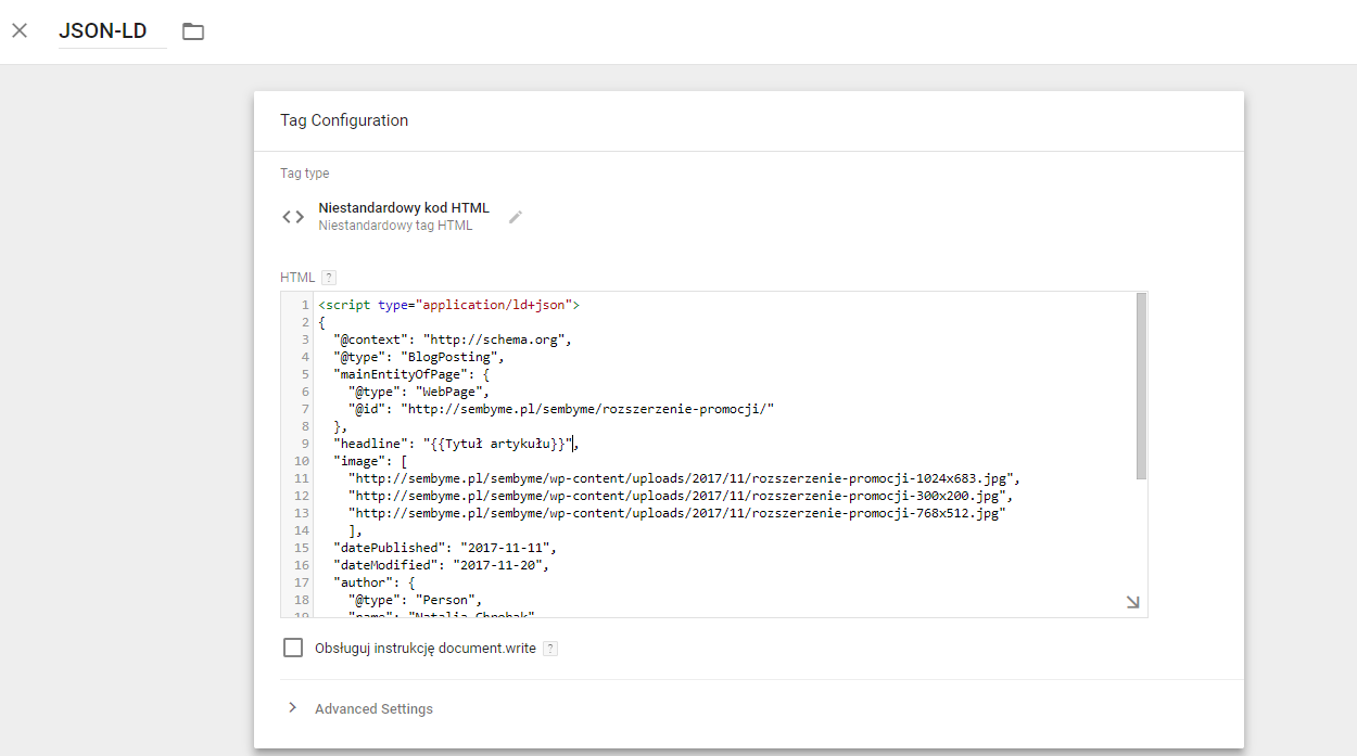 json-ld data layer