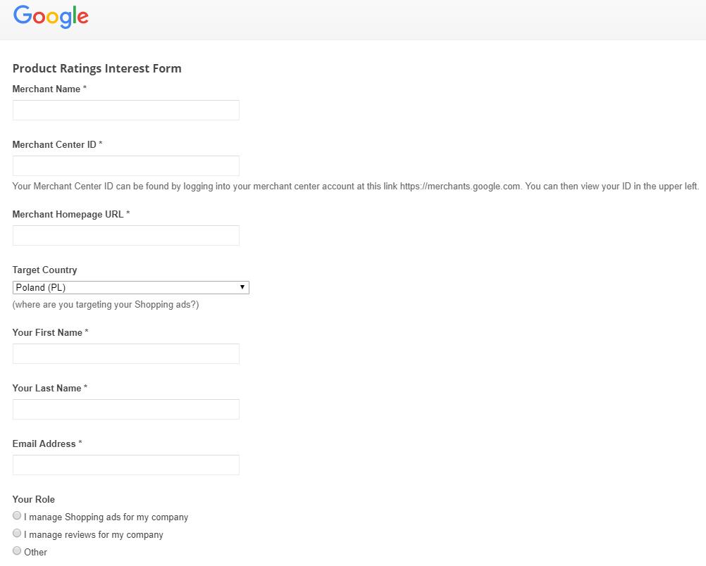 opinie konsumenckie google merchnat center
