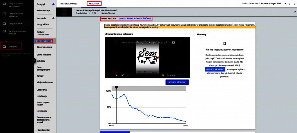 śledzenie momentów google ads