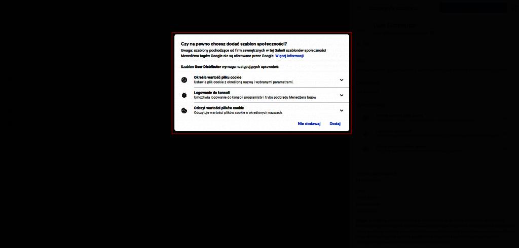 Szablony w Google Tag Managerze
