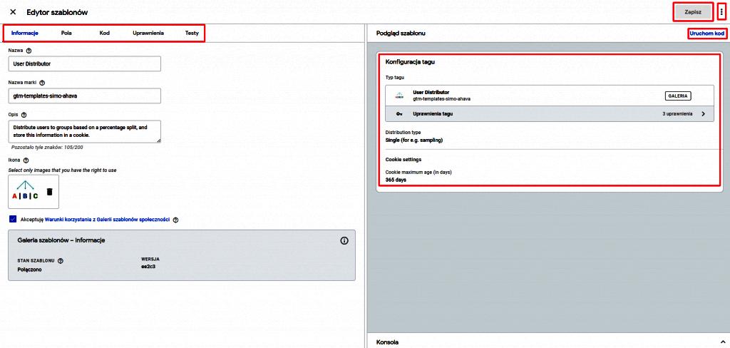 testowanie szablonów tagów w google tag managerze
