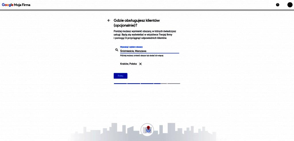 obsługa klientów w Google Moja Firma